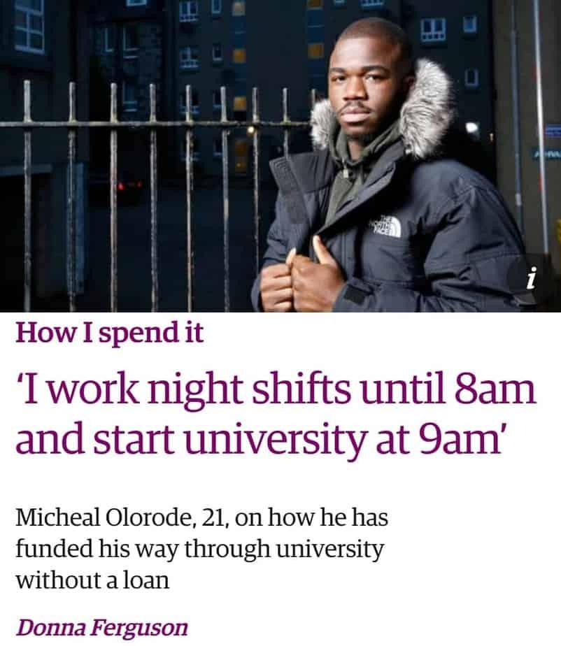 GT Scholars Alumni, Michael Olorode featured in The Guardian